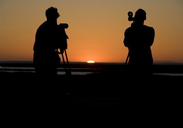 Last of the sun on the Sea of Cortez