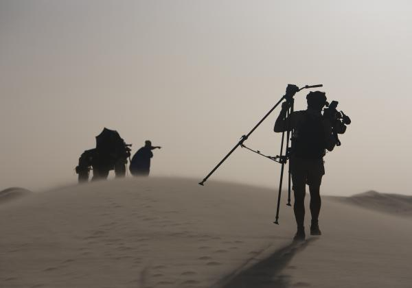 Tough shooting conditions in the Sahara